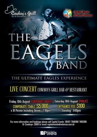 The Eagles Band Poster - revised poster160714 rgb