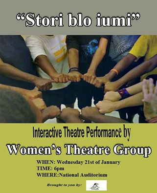 Women's Theatre Group performance Flyer