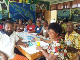The Literacy League at their training workshop last year. The League worked throughout the year to support schools around Honiara increase literacy.